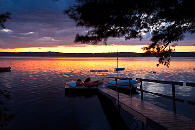 Sunset lodge damariscotta lake maine vacation rental Sunset lodge